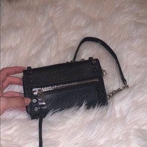 black mini shoulder bag/wallet